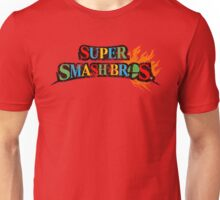 Super Smash Bros Logo W/ Mario World Colors Unisex T-Shirt