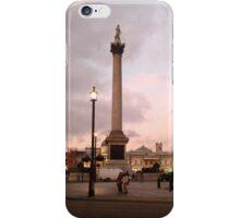 Nelson's Column at dusk iPhone Case/Skin