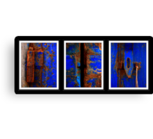 Moroccan Rust Triptych Canvas Print