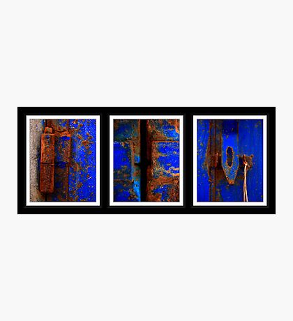 Moroccan Rust Triptych Photographic Print