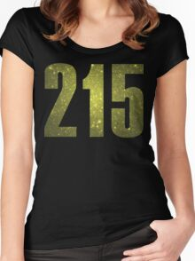 215 Philly   Phone Area Code Shirts Women's Fitted Scoop T-Shirt