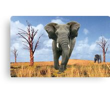 Elephant Charging Canvas Print