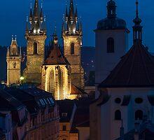 Evening Prague by eskamilho
