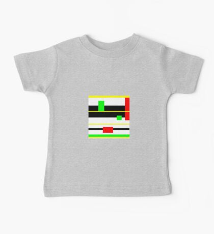 YELLOW, black, red, green, modern Baby Tee