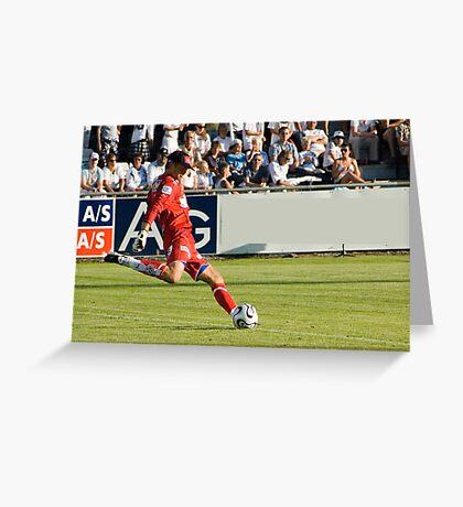 Goal Keeper kicks .. Greeting Card