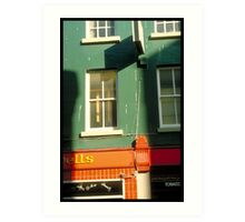 Green Frontages Art Print