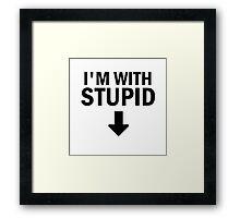 Glee: I'm With Stupid Framed Print