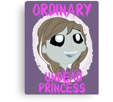 Completely Ordinary Zombie Princess Canvas Print