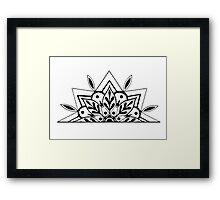 Semi Mandala Framed Print