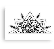 Semi Mandala Canvas Print