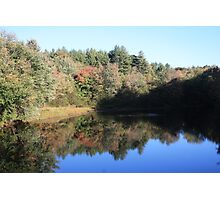 Suncook River in fall Photographic Print