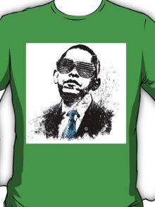 Obama in Black & White T-Shirt