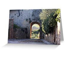 Archway to the Vineyards Greeting Card