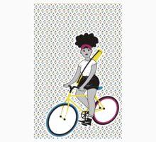 CMYK Biking Chick Kids Clothes