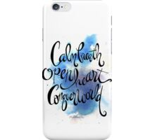 Calm Breath, Open Heart, Conquer World iPhone Case/Skin