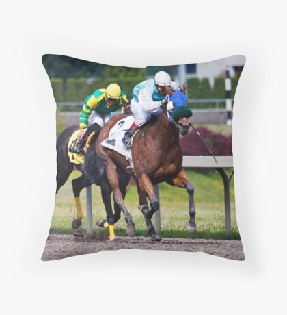 Day at the Races 1 Throw Pillow
