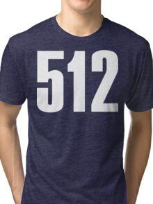 512 South Texas [White Ink] | Phone Area Code Shirtsv Tri-blend T-Shirt