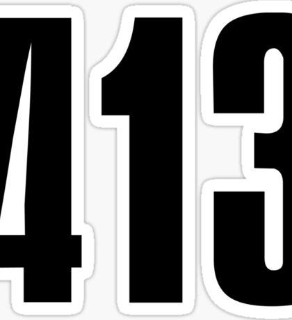 413 Massachusetts [Gilded Galaxy] | Phone Area Code Shirts Sticker