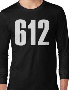612 Minneapolis [White Ink] | Phone Area Code Shirts Long Sleeve T-Shirt