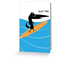 Surf Dog Standing Greeting Card