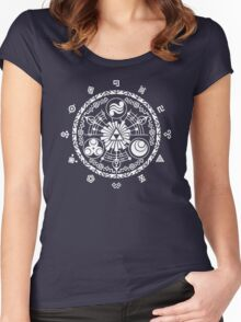 Gate of Time - White Women's Fitted Scoop T-Shirt