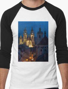 Evening Prague Men's Baseball ¾ T-Shirt
