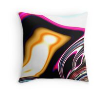 COLORFUL PSYCHEDELIC, modern ABSTRACT fractals Throw Pillow
