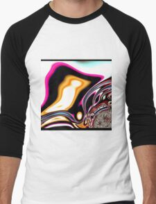 COLORFUL PSYCHEDELIC, modern ABSTRACT fractals Men's Baseball ¾ T-Shirt