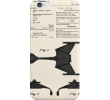 Klingon Fighter Toy Figure Patent- Colour iPhone Case/Skin