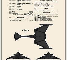 Klingon Fighter Toy Figure Patent- Colour by FinlayMcNevin