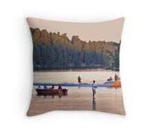 Lake Party Throw Pillow