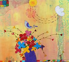 Flower Vase and a Bird  by sunnyklee