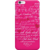 Words of Love Bright Pink Designer Art iPhone Case/Skin
