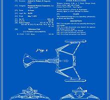 Klingon Fighter Toy Figure Patent - Blueprint by FinlayMcNevin