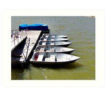 """Row"" Boats Art Print"