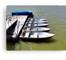 """Row"" Boats Canvas Print"
