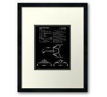 Klingon Fighter Toy Figure Patent - Black Framed Print