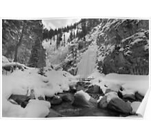 Icefalls in Kananaskis  Poster