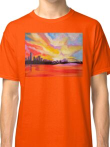 Sydney Harbour Sunset (large) Classic T-Shirt