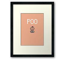 Poo Framed Print