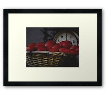 Weigh in the tomatoes Framed Print