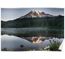 Sunrise on Reflection Lake Poster