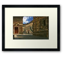 Quiet back street Framed Print