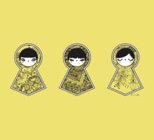 Three Matryoshka Babushka Dolls One Piece - Short Sleeve