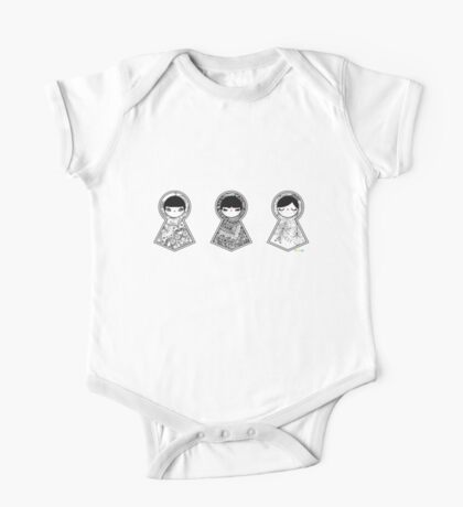 Three Matryoshka Babushka Dolls One Piece - Short Sleeve