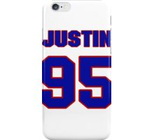 National football player Justin Ena jersey 95 iPhone Case/Skin