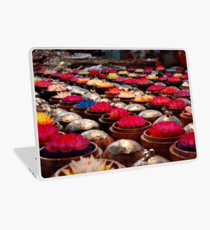 Colourful Wax Flower Trinkets Laptop Skin