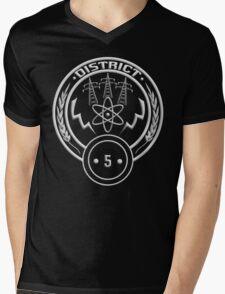 District 5 - Power Mens V-Neck T-Shirt