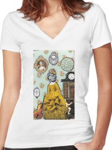 Colonial Dollhouse Women's Fitted V-Neck T-Shirt