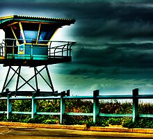 Surf Life Saver Tower - HDR by Greg Hughes